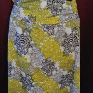 💜 Tranquility yellow and grey skirt